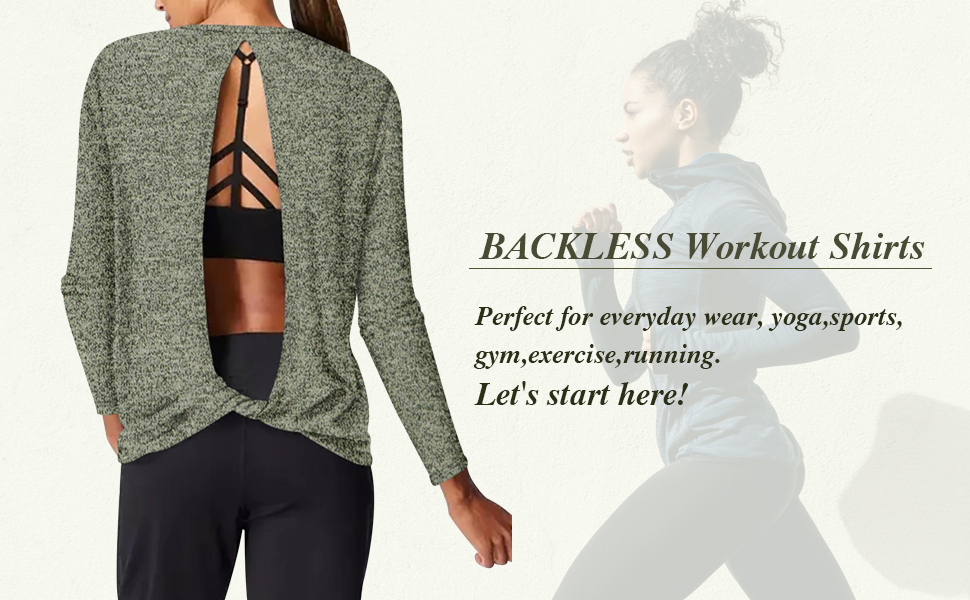backless workout tops for women