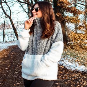 Sherpa Pullover Fuzzy Fleece Sweatshirt Oversized