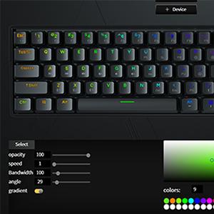 60% Mechanical keyboard RGB KEMOVE Lighting effects modes