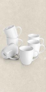 White Porcelain Coffee Mugs I