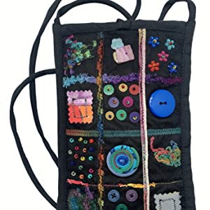 Tulle Window Pane Cell Phone Bag