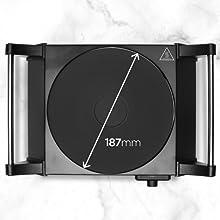 Duronic HP1BK Placa Eléctrica Portátil 1500W con diámetro de 187mm - Hornillo Eléctrico con Asas - Calientaplatos ideal para camping, caravana, campo, ...