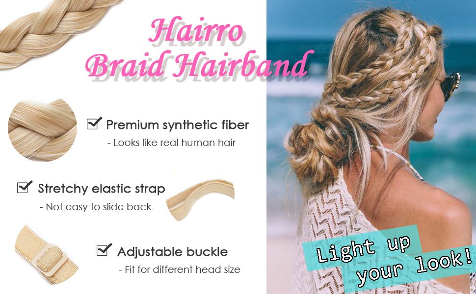 Hairro braided hairband headband for women