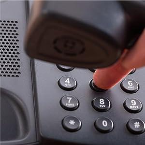 Hand dialing landline phone