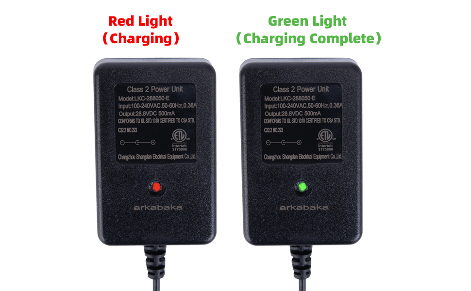 24V Charger for Ride on Toys, 24 Volt Battery Charger for Ride on Car SUV Car Ride-Ons Accessories
