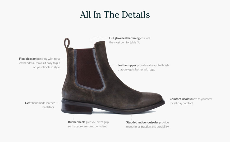 Thursday Boot Company Women's Duchess Olive Suede Chelsea Boot
