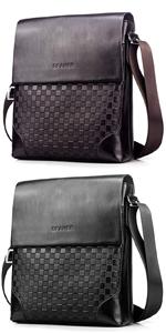 SPAHER Leather Men Shoulder Bag Briefcase