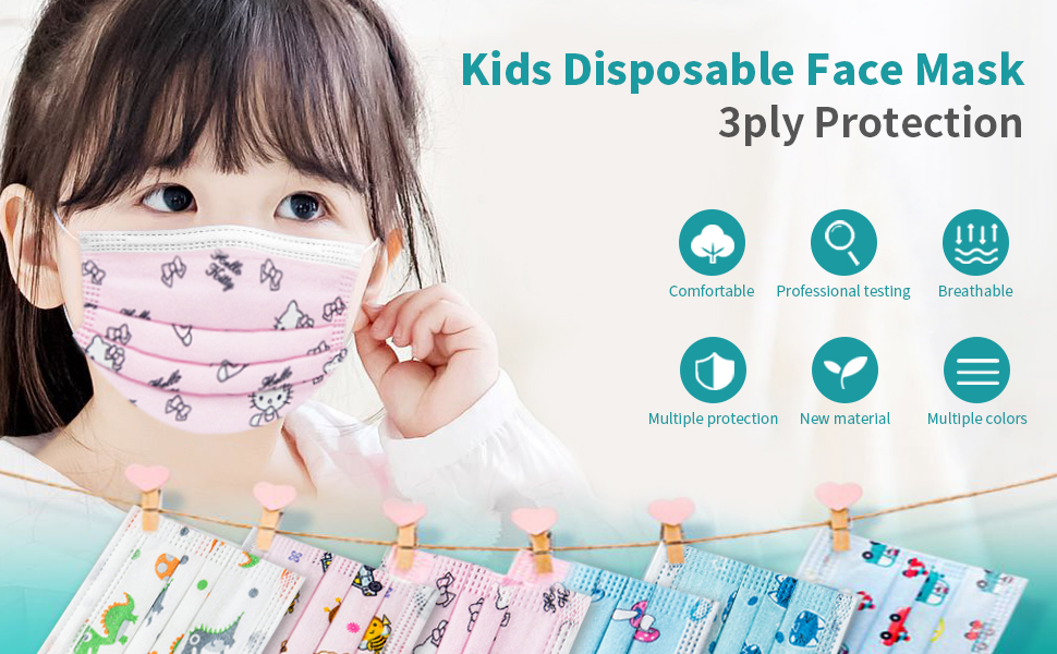 kids disposable face mask