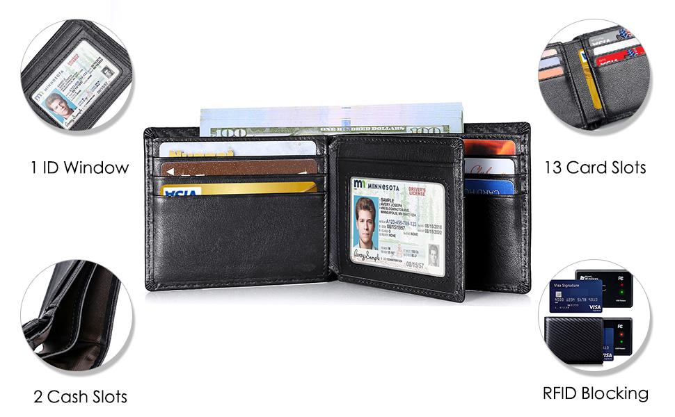 mens leather wallet for men