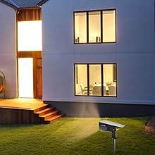 solar powered led landscape spotlights outdoor spot lights waterproof yard garden pathway wall lamp
