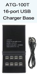 16-port USB Charger Base