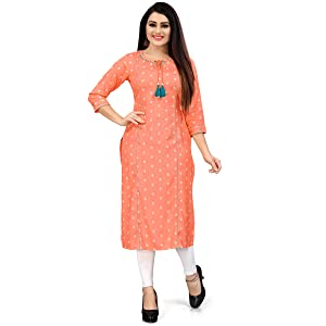 Rajnandini Women's Green Coloured Pure Cotton Jaypuri Printed Kurti (Ready To Wear)
