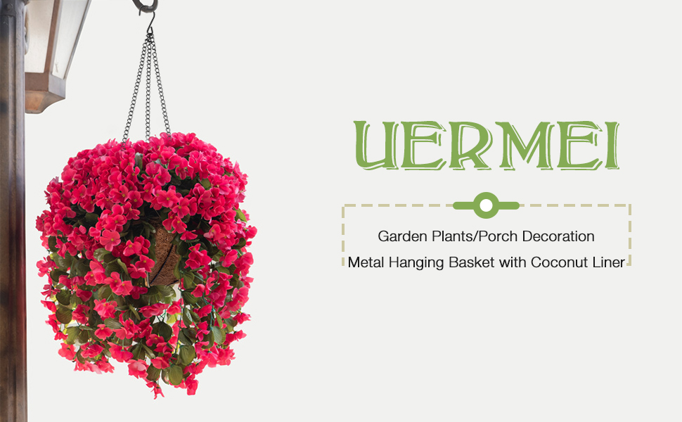 UERMEI Hanging Basket for plants