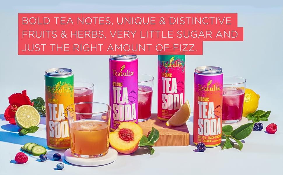 Fizzy, fruity, Tea Soda.