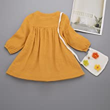 toddler girl linen cotton dress