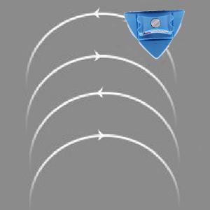 Limpiador de ventanas magnetico, Cepillo de limpieza doble cara con Cuerda Anti-caída