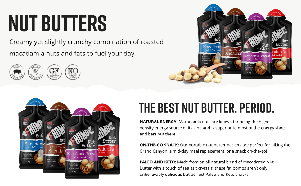 nut butter packets chocolate peanut butter macadamia nuts natural organic peanut butter keto butter