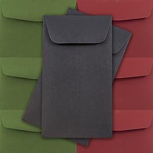 black #5.5 coin envelope