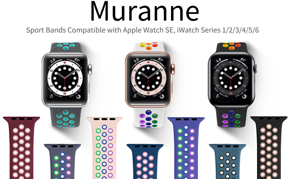 Various fun colors personalize your iwatch and fit your mood, outfit in daily life