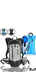 FREEMOVE daypack hydration pack backpack hiking cycling running gear water backpack camelbak bag MTB
