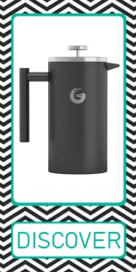 Coffee Gator French press brewer grey gray