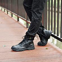 JACKSHIBO Sicherheitsstiefel Herren S3 Stahlkappe Leder Arbeitsschuhe Schn/ürstiefel Leicht Stiefel Security Sicherheit Stahlkappe Stahlsohle Anti-Perforations Schuhe