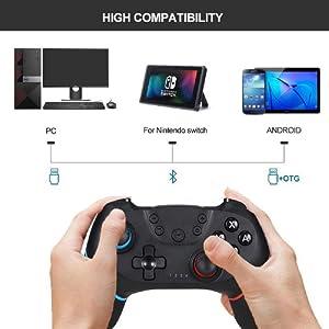 Diswoe Mando para Nintendo Switch, Wireless Bluetooth Pro Controller Controlador Inalámbrico Apoya Vibración, Turbo y Giroscopio, Controlador para Nintendo Switch/Nintendo Switch Lite: Amazon.es: Electrónica