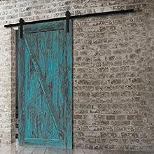 FIXKIT 6Ft 183cm Herraje Puerta Corredera, Kit Guia Puerta Corredera ,Rieles para Puertas Correderas, Juego de Piezas de Metal Carril para Puerta Deslizante 183 * 4 * 0.6cm: Amazon.es: Bricolaje y herramientas