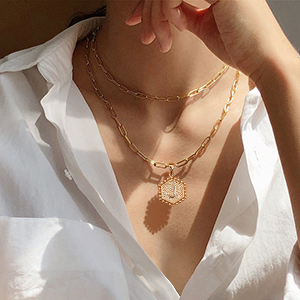 Autumn Cubes Necklace Minimal Necklace Glass Necklace Fall Necklace Women/'s Necklace Gold Plated Necklace Gift Idea Y-Necklace Layering