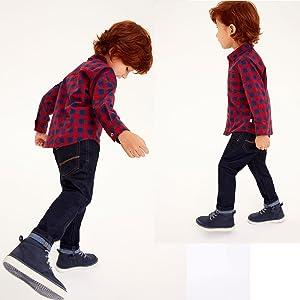Yilaku Ropa Bebe Niño Invierno Conjunto de 4 Piezas Niños Camisa de Manga Larga + Pajarita + Pantalones con Tirantes Traje