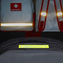 3箇所に反射材。上部に暗闇で光る畜光材。 最高クラスの照度・照射時間を誇る高級畜光材を使用。