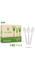 Compostable Biodegradable Knives Disposable Silverware Utensils Cutlery