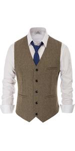Tweed Suit Vest