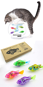 Swimming Robot Fish Cat Toy product picture cat fishing