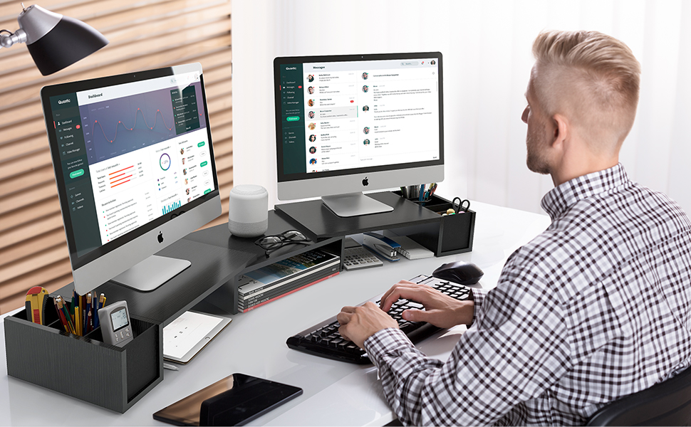 LORYERGO Dual Monitor Stand Riser