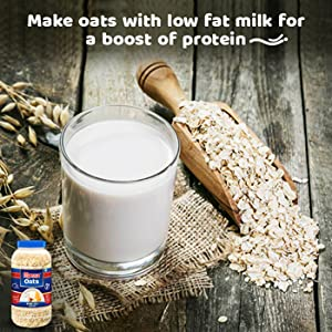 Make oats with low fat milk for a boost of protein