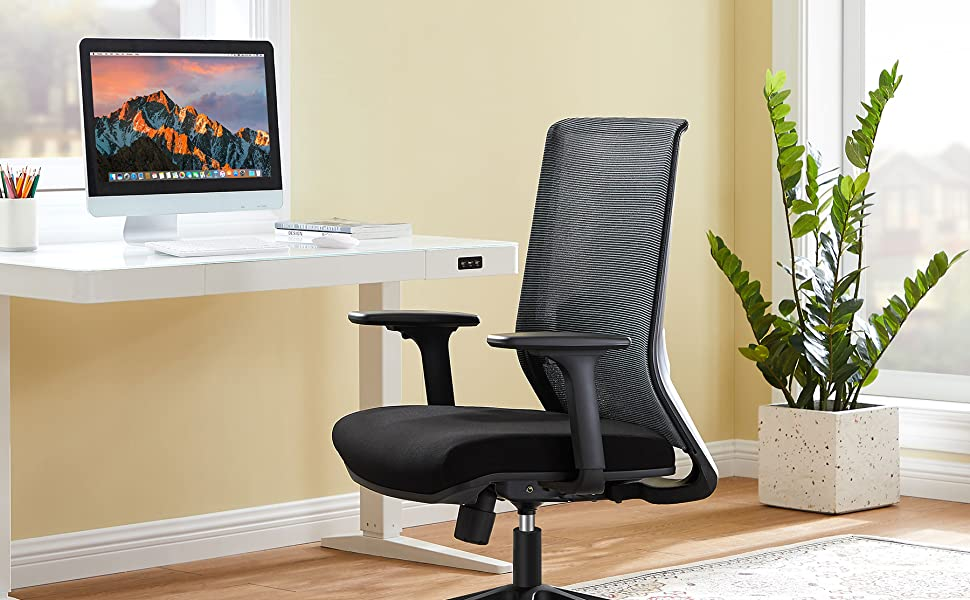 Tribesigns Egonomic Office Chair, Desk Chair, Computer Gaming Chair Black