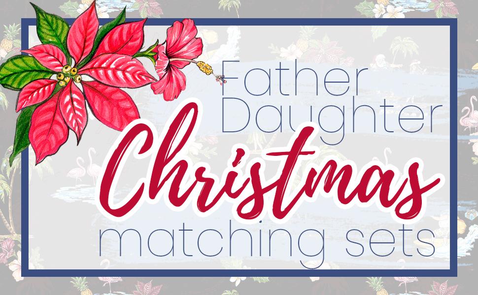 Hawaii Hangover Father Daughter Matching Sets Christmas Santa Pattern