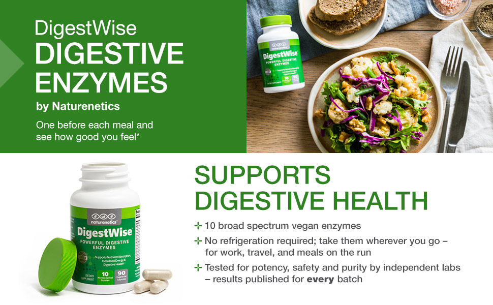 digestion, digestive health, enzymes, digestive enzymes, support, digestwise