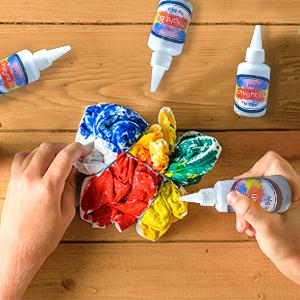 tie die set, tie die kit, tie dye colors