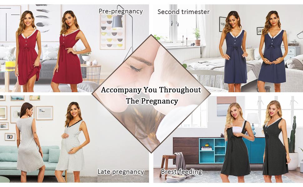 Nightgown for Breastfeeding