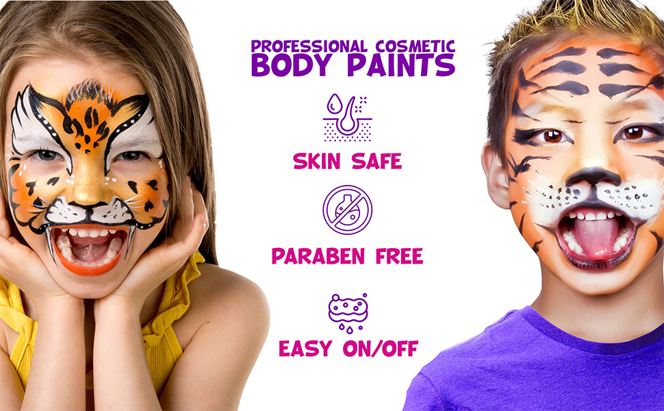 Face Paint Kit with Brushes