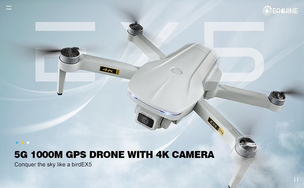 EACHINE EX5 5G GPS DRONE WITH UHK 4K CAMERA