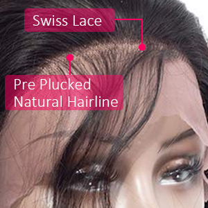 Pre Plucked hairline natural