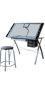 Stationery Island FOULA-TP Mesa de Dibujo para Arte y Diseño ...