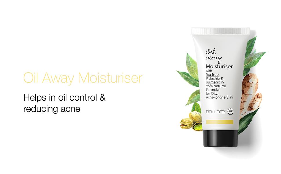 Brillare Oil Away Moisturiser for Oily Acne Prone Skin