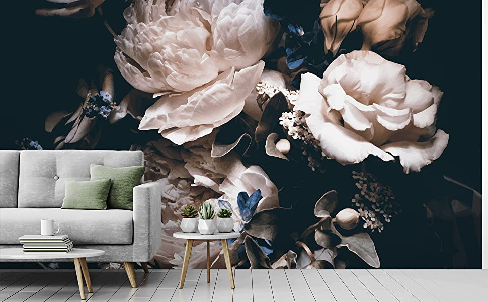 3D Flower A2894 Removable Wallpaper Self Adhesive Wallpaper Extra Large Peel /& Stick Wallpaper Wallpaper Mural AJ WALLPAPERS