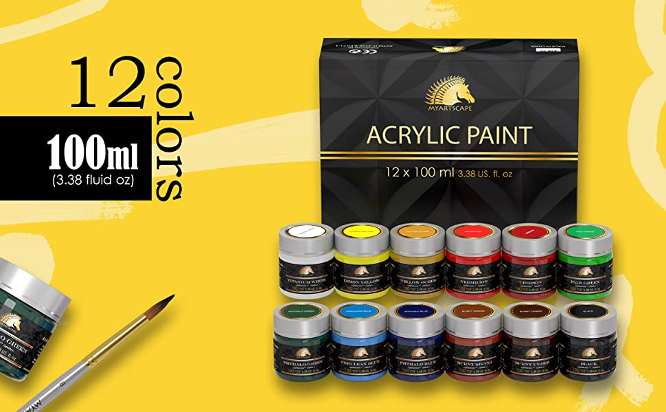 acrylic paint set for painting