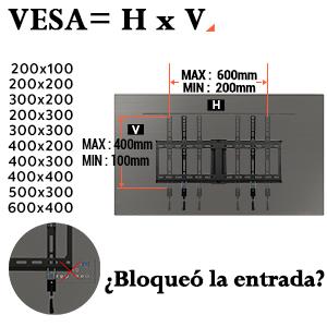Soporte TV de pared inclinable PL2268-LK Eono Essentials para televisores 70 pulgadas VESA 600x400