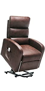 brown lift recliner